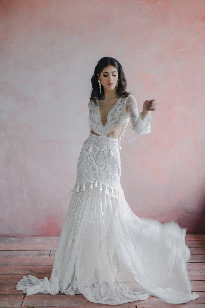 Najpiękniejsze suknie ślubne w stylu BOHO 7 ALEBOSCO AngellureBridal Mermaid