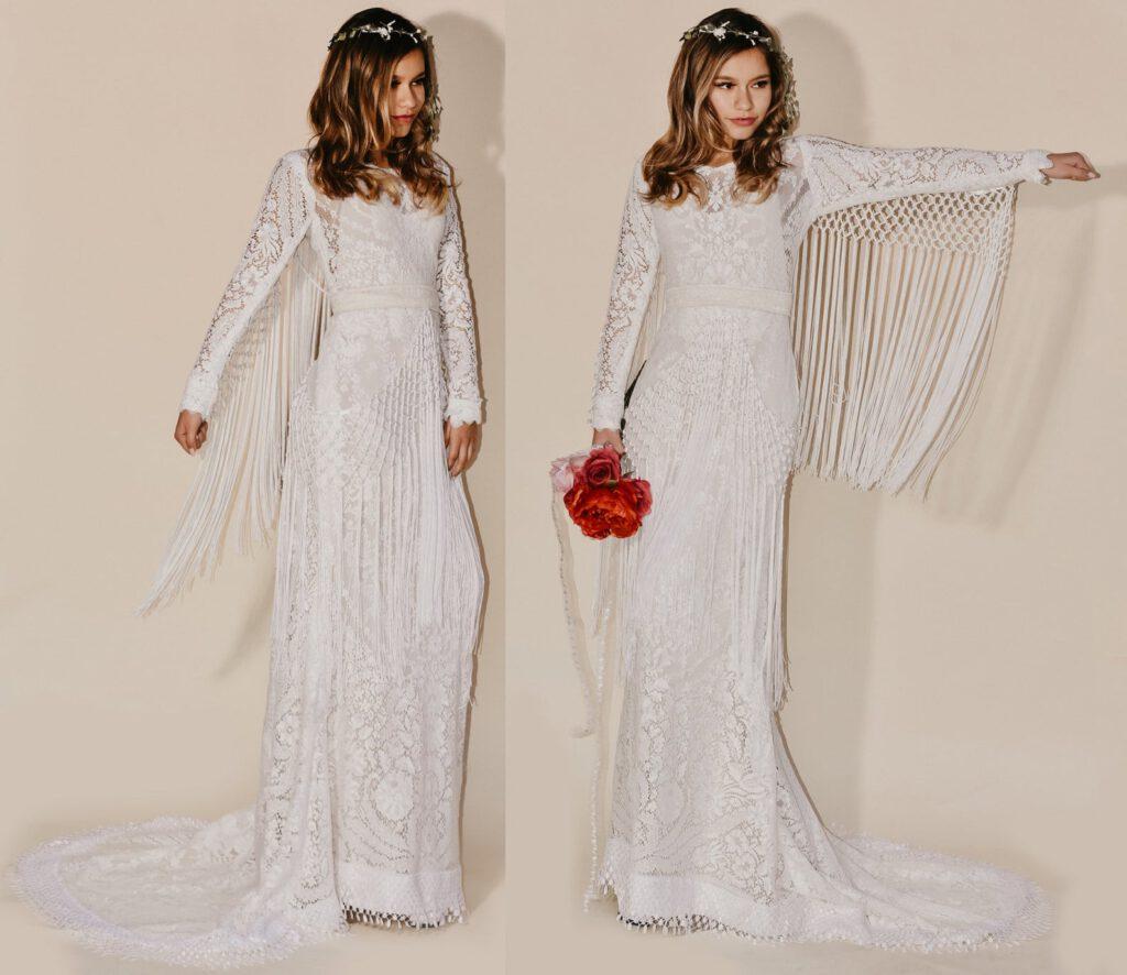Najpiękniejsze suknie ślubne w stylu BOHO 10 ALEBOSCO SaldanaVintage 2