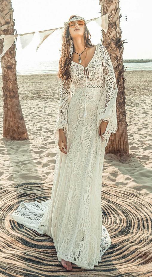 Najpiękniejsze suknie ślubne w stylu BOHO 3 alebosco rish alma