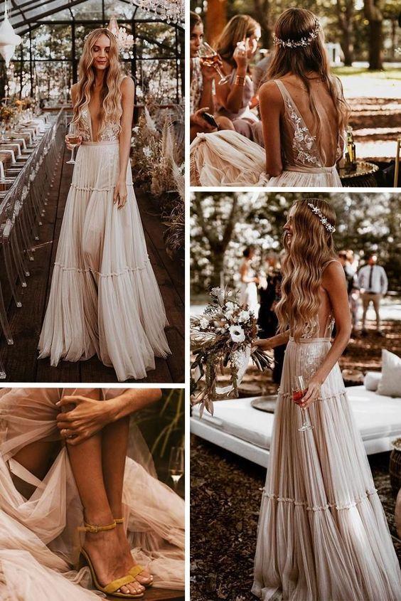 Najpiękniejsze suknie ślubne w stylu BOHO 25 c6599ecd0e9a032ddf611c1814043981