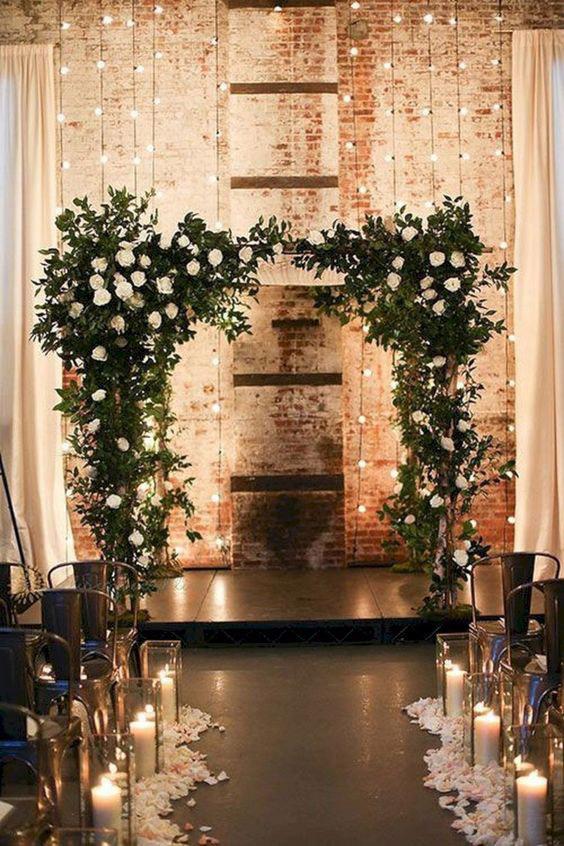 10 pomysłów na wyjątkowy ślub jesienią 3 alebosco ceremonia swiatelka 1