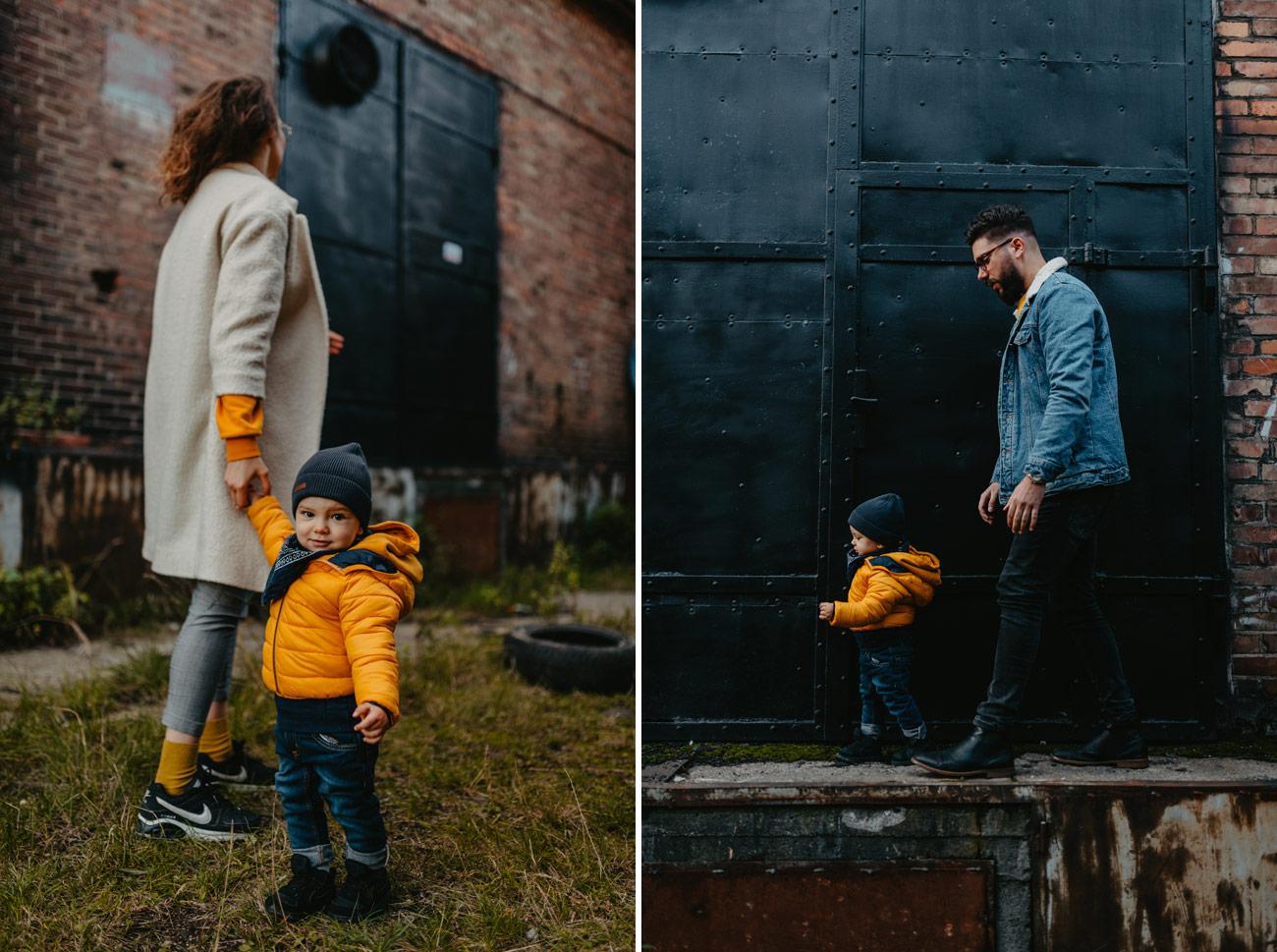 sesja rodzinna na stoczni