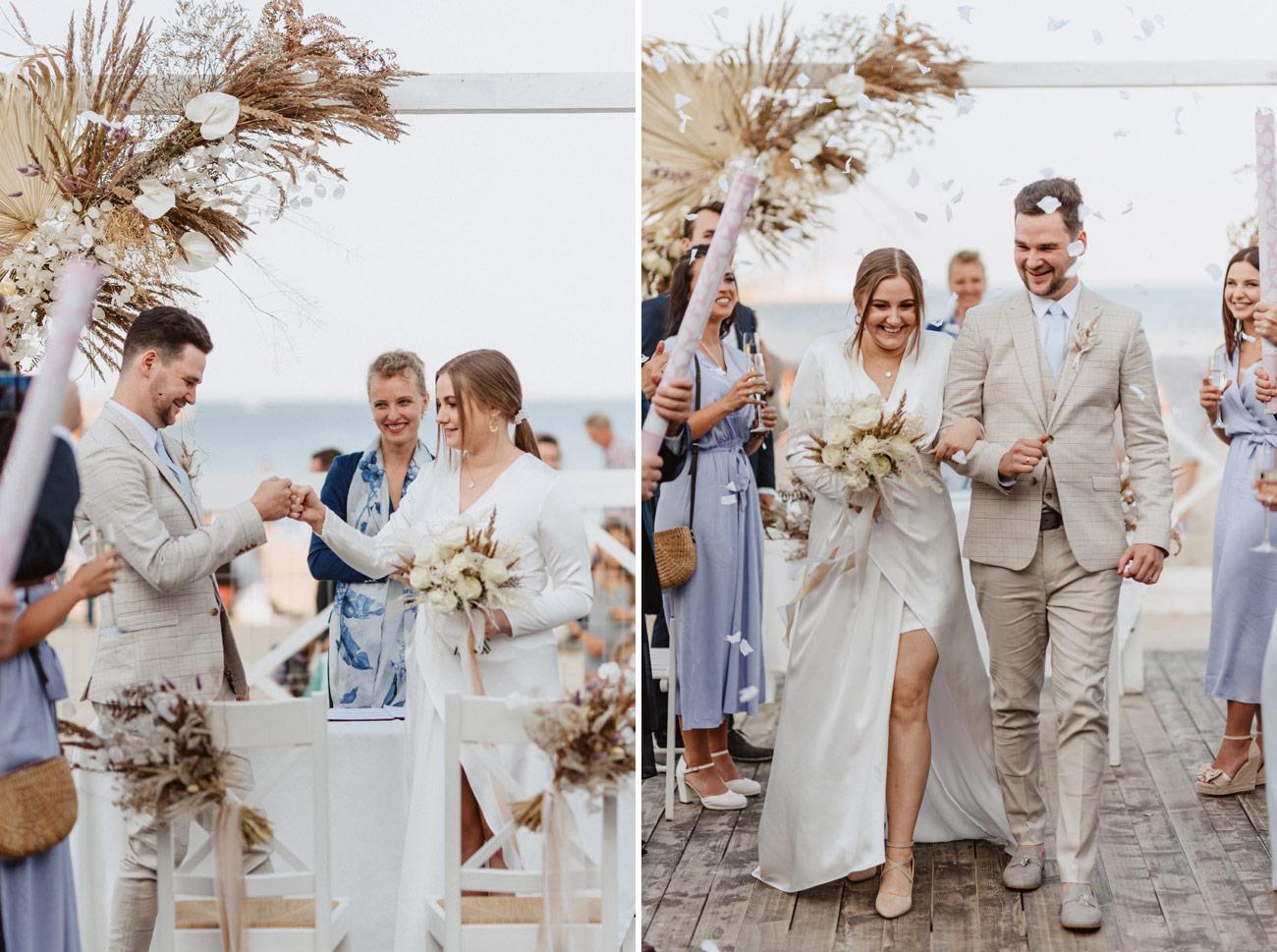Minimalistyczny ślub na plaży | White Marlin A+K 55 252 alebosco ceremonia na plazy ak white marlin